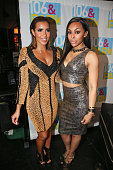 Julissa Bermudez and Kimberly Paigion Walker attend The BET '106 Park' Finale at BET Studios on December 19 2014 in New York City