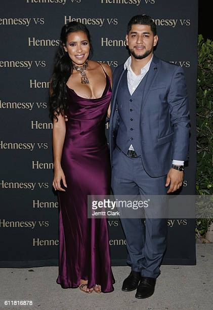 Julissa Bermudez and William Blanco Hennessy USA attend Julissa Bermudez's Lingerie Inspired Birthday Party at Naked Princess on September 30 2016 in...