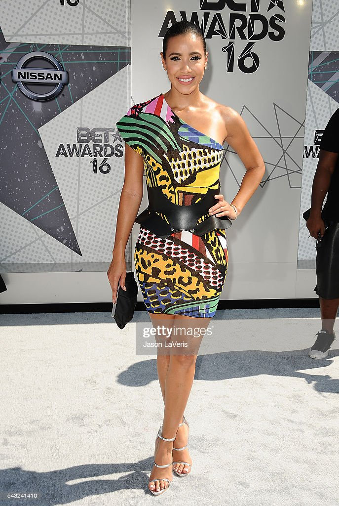<a gi-track='captionPersonalityLinkClicked' href=/galleries/search?phrase=Julissa+Bermudez&family=editorial&specificpeople=778932 ng-click='$event.stopPropagation()'>Julissa Bermudez</a> attends the 2016 BET Awards at Microsoft Theater on June 26, 2016 in Los Angeles, California.