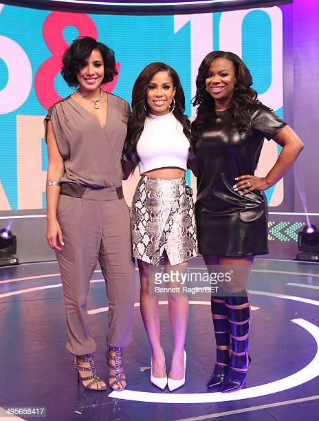 Julissa Bermudez Keshia Chante and Kandi Burruss attend 106 Park at BET studio on June 4 2014 in New York City