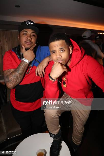 Julito McCullum and MackWilds attend 'The Breaks' Viewing Party at 40 / 40 Club on February 20 2017 in New York City