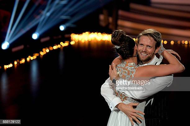 Julius Brink and Ekaterina Leonova perform on stage during the 10th show of the television competition 'Let's Dance' at Coloneum on May 20 2016 in...