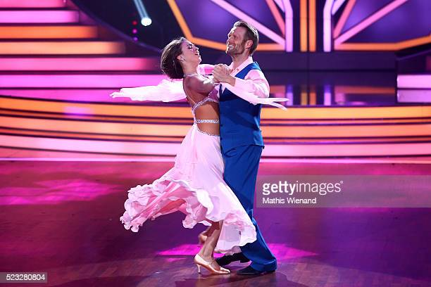 Julius Brink and Ekaterina Leonova perform on stage during the 6th show of the television competition 'Let's Dance' on April 22 2016 in Cologne...