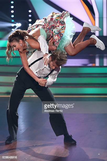 Julius Brink and Ekaterina Leonova perform on stage during the 8th show of the television competition 'Let's Dance' on May 6 2016 in Cologne Germany