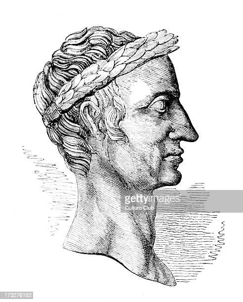 Julius Caesar profile Taken from a copper coin in the British Museum Gaius Julius Caesar Roman general and statesman b 13 July 100 BC d 15 March 44 BC