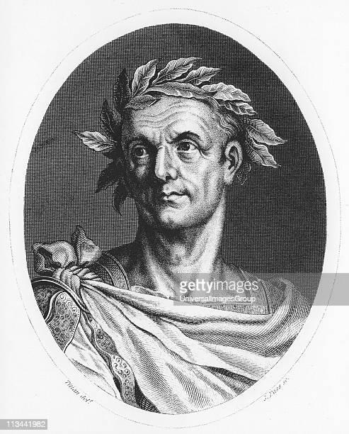 Julius Caesar Roman soldier and statesman Engraving c1825