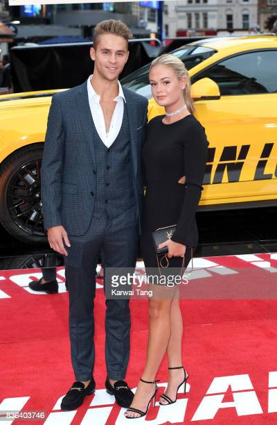 Julius Cowdry and Ella Willis attend the UK premiere of 'Logan Lucky' at the Vue West End on August 21 2017 in London England