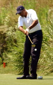 Julius 'Dr J' Erving during 2003 ESPY Awards Celebrity Golf Classic at Lost Canyons Country Club in Simi Valley California United States
