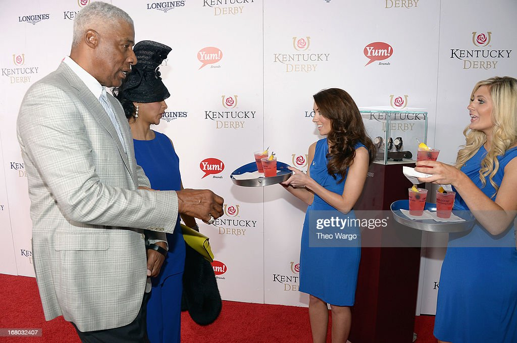 Julius Erving at the GREY GOOSE Red Carpet Lounge at the Kentucky Derby at Churchill Downs on May 4, 2013 in Louisville, Kentucky.