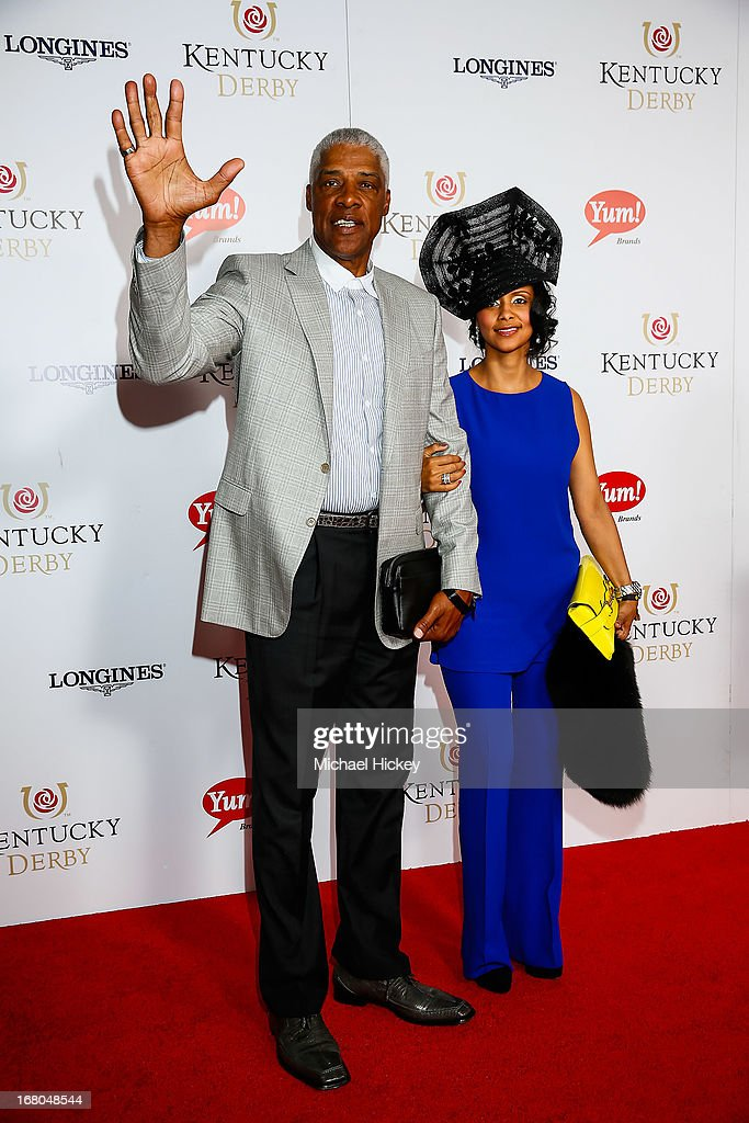 <a gi-track='captionPersonalityLinkClicked' href=/galleries/search?phrase=Julius+Erving&family=editorial&specificpeople=202966 ng-click='$event.stopPropagation()'>Julius Erving</a> attends 139th Kentucky Derby at Churchill Downs on May 4, 2013 in Louisville, Kentucky.