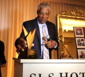 Julius Erving attends the Hennessy Presents 'The Conversation' Erving Simmons Mentorship Dinner at the SLS Hotel on February 18 2011 in Beverly Hills...