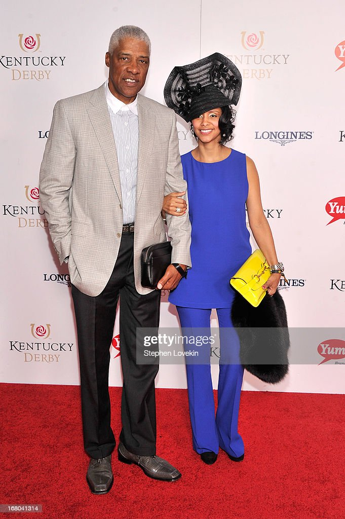 Julius Erving, 'Dr. J', attends the 139th Kentucky Derby at Churchill Downs on May 4, 2013 in Louisville, Kentucky.