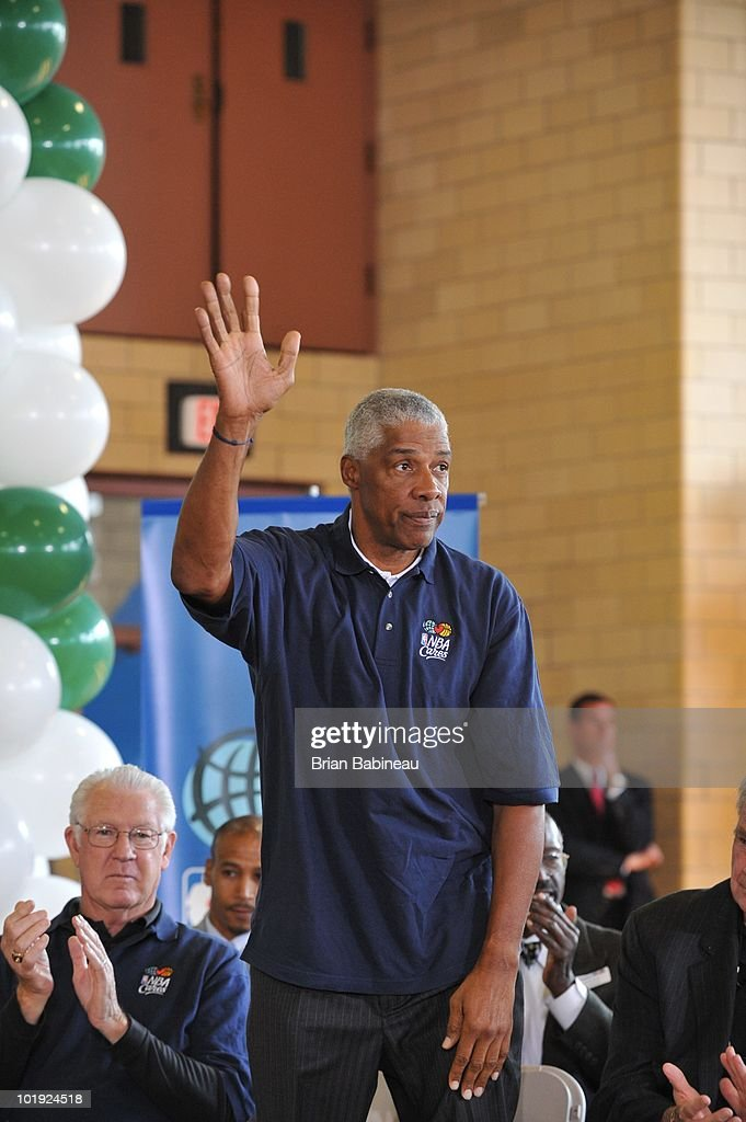 <a gi-track='captionPersonalityLinkClicked' href=/galleries/search?phrase=Julius+Erving&family=editorial&specificpeople=202966 ng-click='$event.stopPropagation()'>Julius Erving</a>, NBA Legend and Hall of Famer, is introduced to the members during the unveiling of the Learn & Play Center at the Boston Centers for Youth & Families (BCYF) Tobin Community Center on June 9, 2010 in Boston, Massachusetts.