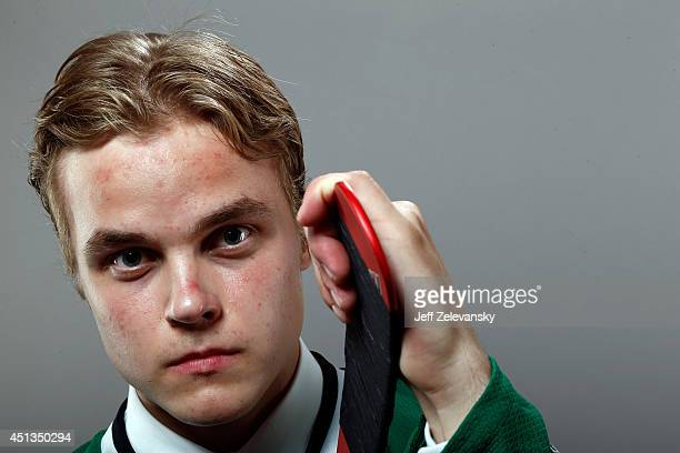 Julius Honka of the Dallas Stars poses for a portrait during the 2014 NHL Draft at the Wells Fargo Center on June 27 2014 in Philadelphia Pennsylvania