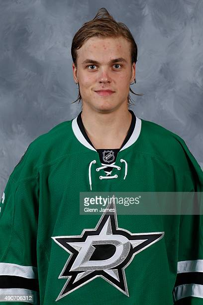 Julius Honka of the Dallas Stars poses for his official headshot for the 20152016 season on September 17 2015 at the Dr Pepper Stars Center in Frisco...