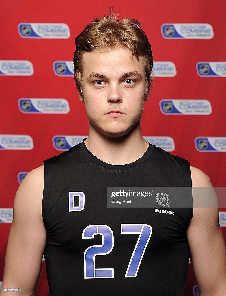 <a gi-track='captionPersonalityLinkClicked' href=/galleries/search?phrase=Julius+Honka&family=editorial&specificpeople=9966154 ng-click='$event.stopPropagation()'>Julius Honka</a> poses for a head shot prior to testing at the NHL Combine May 29, 2014 at the Westin Bristol in Toronto, Ontario, Canada.