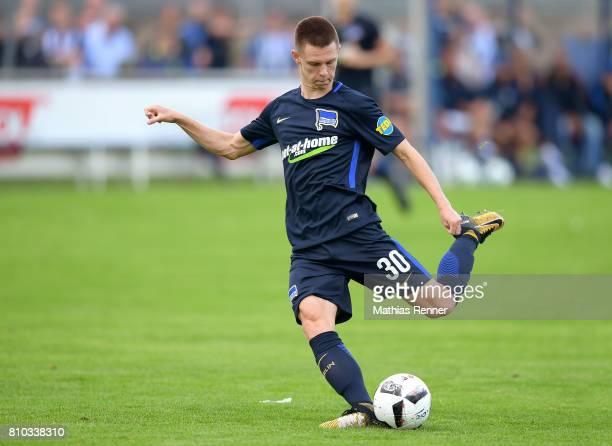 Julius Kade of Hertha BSC during the test match between Oranienburger FC Eintracht and Hertha BSC on july 7 2017 in Oranienburg Germany