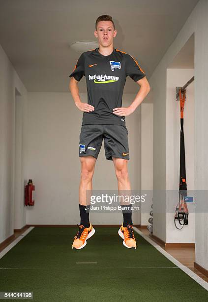 Julius Kade of Hertha BSC during the training session at Schenkendorfplatz on July 01 2016 in Berlin Germany