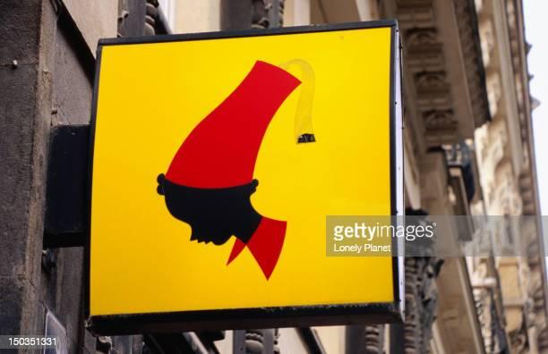 Julius Meinl neon logo on 28 Rijna Street.