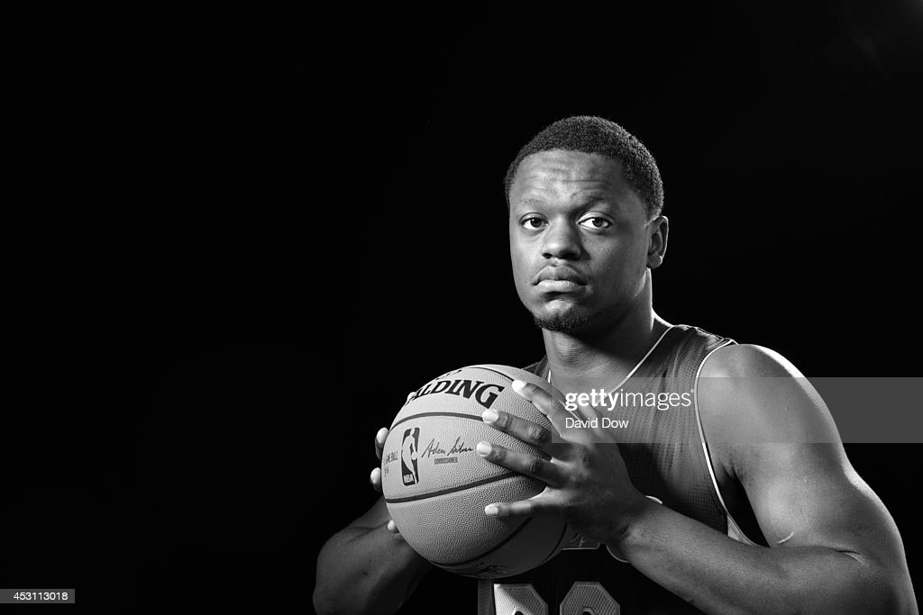 Julius Randle #30 of the Los Angeles Lakers poses for a portrait during the 2014 NBA rookie photo shoot on August 3, 2014 at the Madison Square Garden Training Facility in Tarrytown, New York.