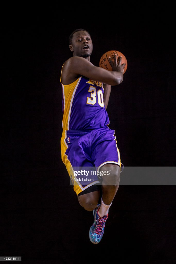 Julius Randle #30 of the Los Angeles Lakers poses for a portrait during the 2014 NBA rookie photo shoot at MSG Training Center on August 3, 2014 in Tarrytown, New York.