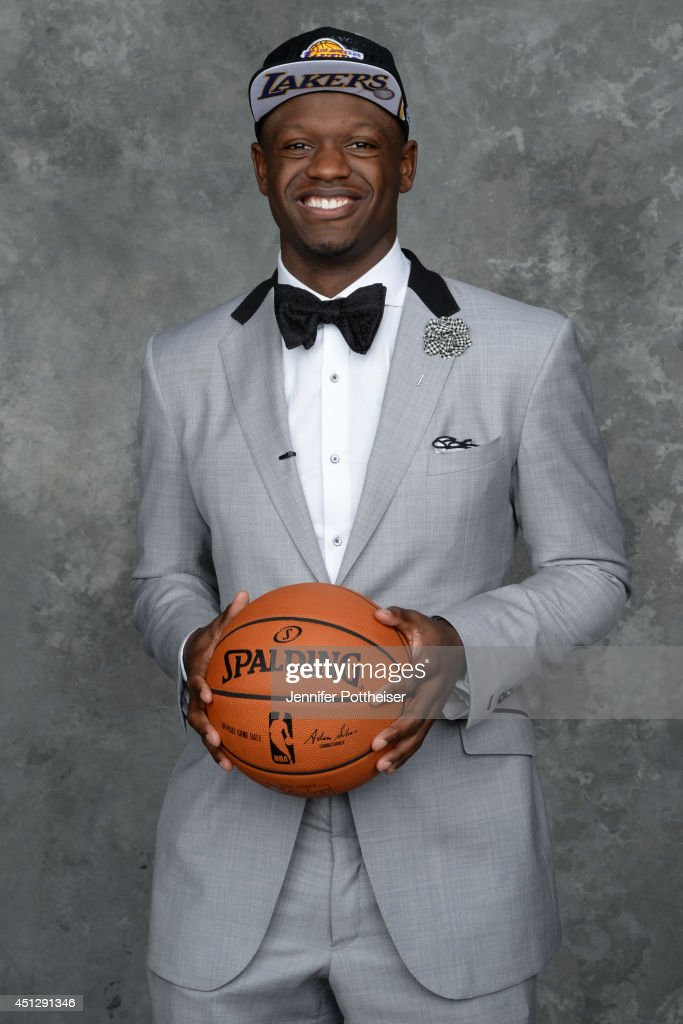 Julius Randle, the seventh pick overall in the NBA Draft by the Los Angeles Lakers, poses for a portrait during the 2014 NBA Draft at the Barclays Center on June 26, 2014 in the Brooklyn borough of New York City.
