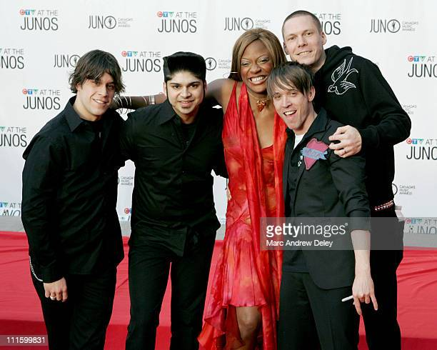 Jully Black and Billy Talent during 2005 Canadian Juno Awards Arrivals at MTS Centre in Winnipeg Manitoba Canada