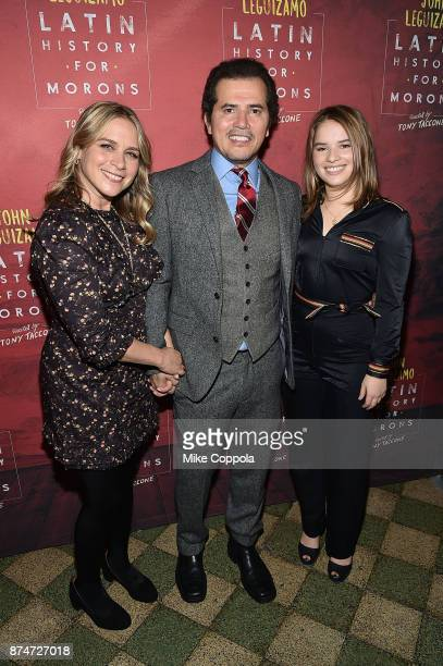 Julstine Maurer Actor/husband John Leguizamo and Allegra Sky Leguizamo pose for a photo at 'Latin History For Morons' Broadway Opening Night at...