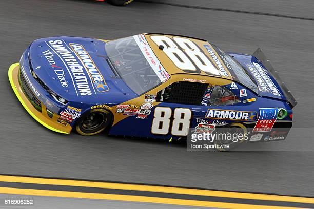 Chase Elliott driver of the Armour Sandwich Creations Chevy in turn 4 during the Subway Firecracker 250 at Daytona International Speedway Daytona...