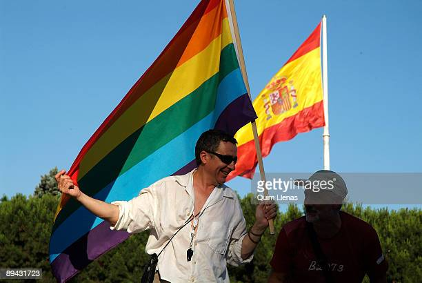 July 02 2005 Madrid Spain Day of the Pride Gay Parade This year the gays and lesbians collective celebrated the law that authorizes the marriages...