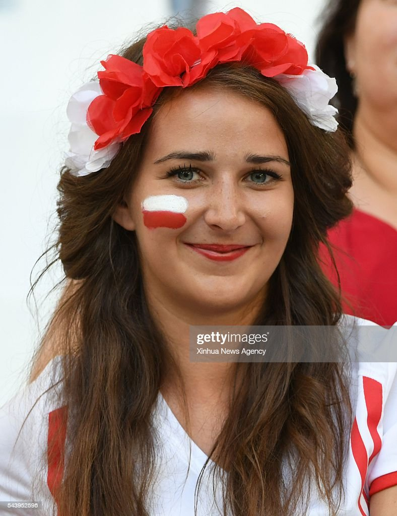 MARSEILLE, July 1, 2016 -- A fan of Poland poses before the Euro 2016 quarterfinal match between Portugal and Poland in Marseille, France, June 30, 2016.