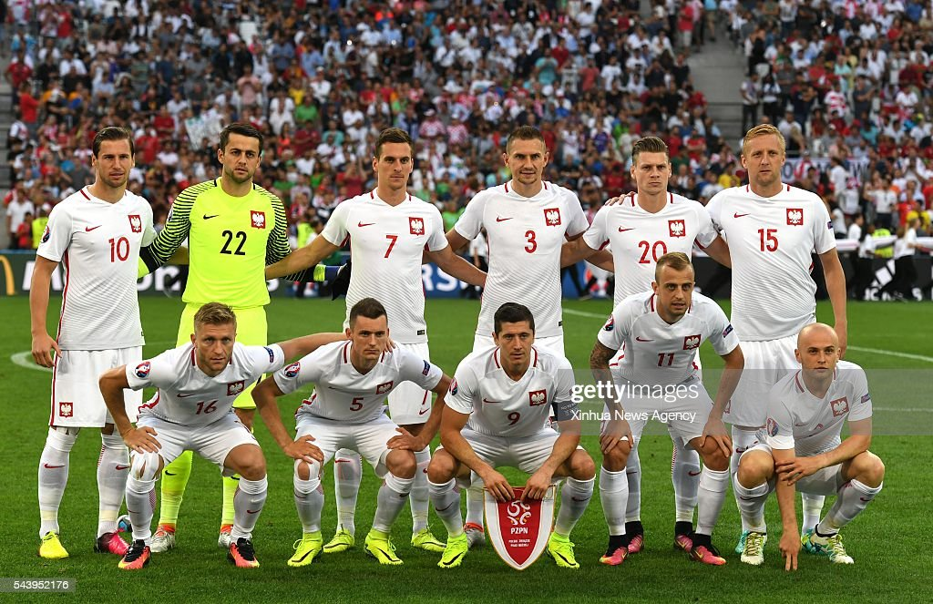 MARSEILLE, July 1, 2016-- Players of Poland pose for a team photo before the Euro 2016 quarterfinal match between Portugal and Poland in Marseille, France, June 30, 2016.