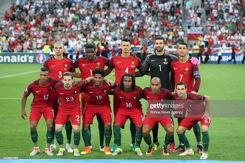 MARSEILLE, July 1, 2016-- Players of Portugal pose for a team photo before the Euro 2016 quarterfinal match between Portugal and Poland in Marseille, France, June 30, 2016.