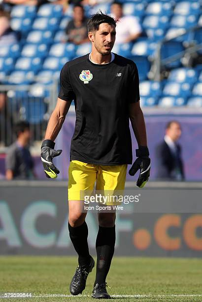 Panama goalkeeper Jaime Penedo The Men's National Team of Honduras and the Men's National Team of Panama drew 11 in a CONCACAF Gold Cup group stage...