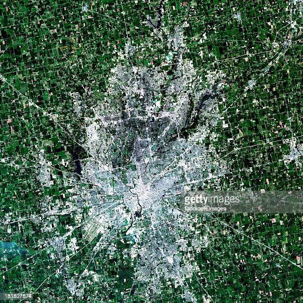 July 11, 2011 - Satellite view of Indianapolis, Indiana.