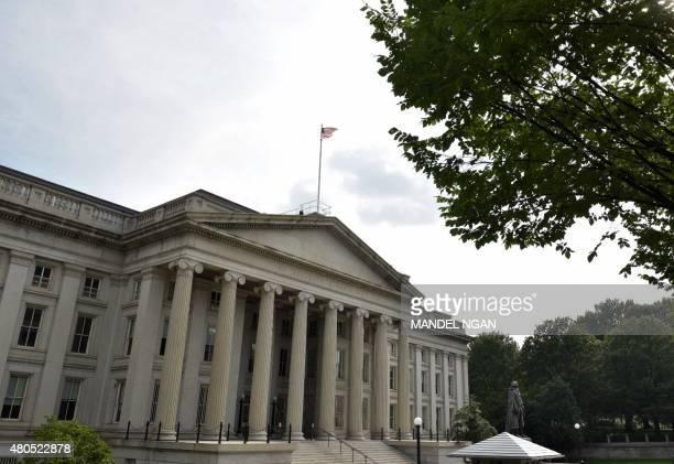 A July 12 2015 photo shows the US Treasury in Washington DC Greek Prime Minister Alexis Tsipras told US Treasury Secretary Jacob Lew on Sunday his...