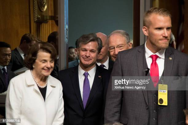 WASHINGTON July 12 2017 Christopher A Wray arrives for the Senate Judiciary Committee hearing on his nomination to be the new Director of the Federal...