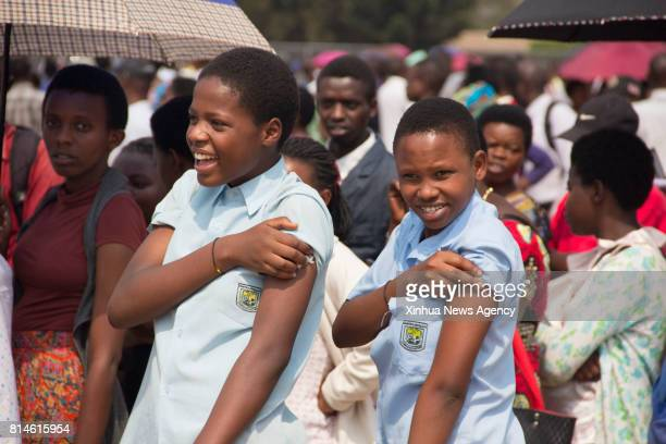 KIGALI July 13 2017 â Two High School Students from around Kigali who just got hepatitis vaccination during the 2017 World Hepatitis Day campaign in...