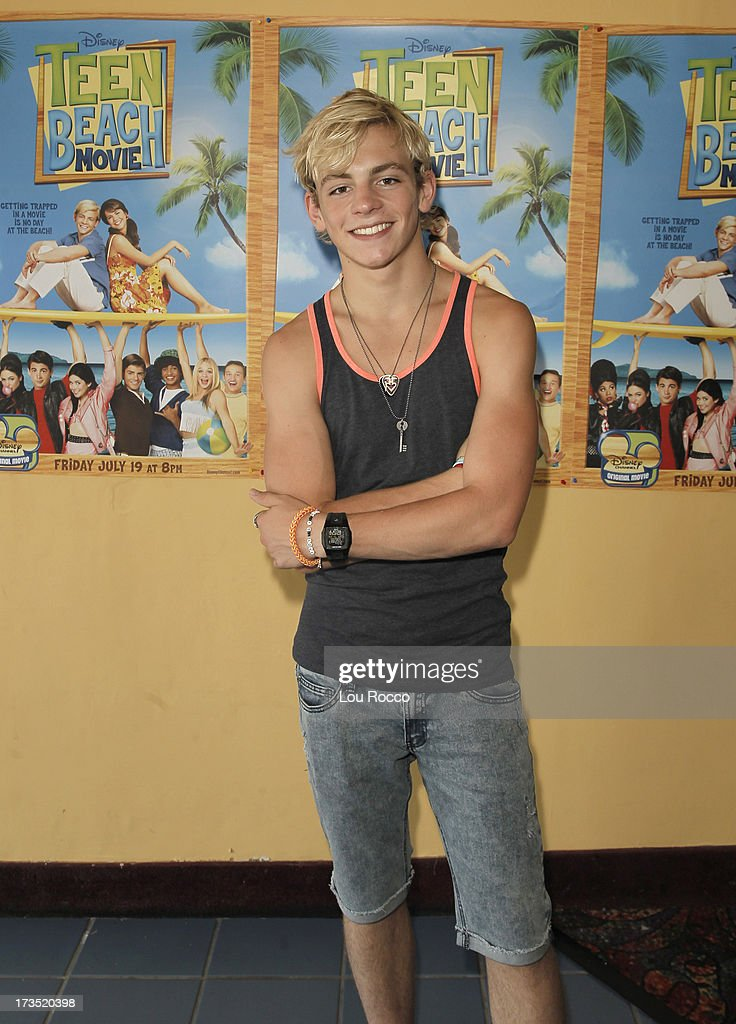 MOVIE - July 14, 2013 - Ross Lynch and Maia Mitchell, starring in the highly anticipated Disney Channel Original Movie, TEEN BEACH MOVIE, attend a screening of their film in Lincroft, NY, after they pitched in to clean up Rockaway Beach in Queens. (Photo by Lou Rocco/Disney Channel via Getty Images) ROSS LYNCH
