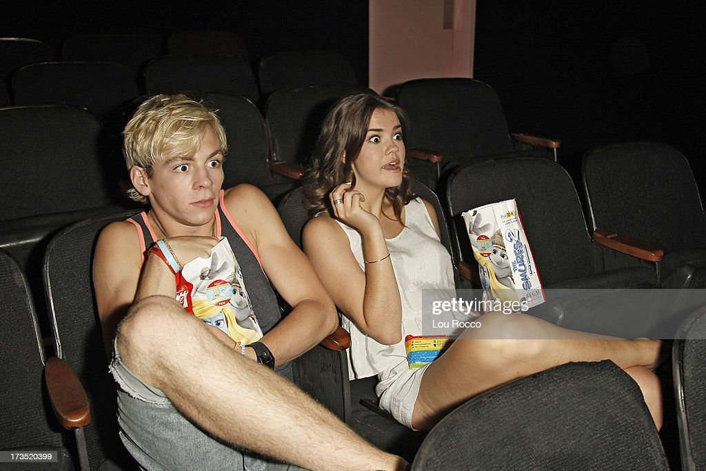 MOVIE - July 14, 2013 - Ross Lynch and Maia Mitchell, starring in the highly anticipated Disney Channel Original Movie, TEEN BEACH MOVIE, attend a screening of their film in Lincroft, NY, after they pitched in to clean up Rockaway Beach in Queens. (Photo by Lou Rocco/Disney Channel via Getty Images) ROSS LYNCH, MAIA MITCHELL