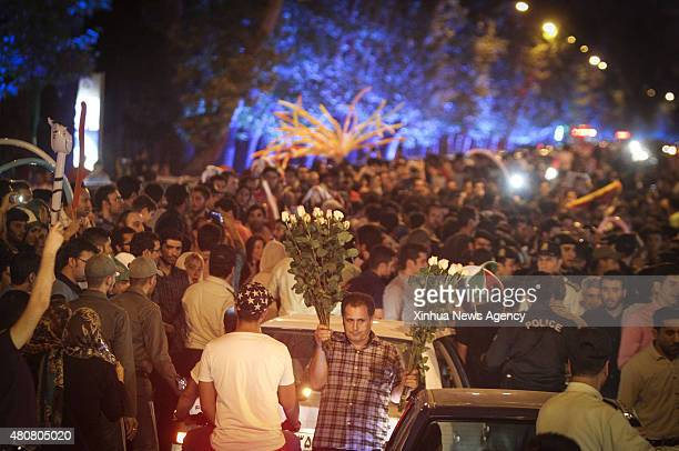 TEHRAN July 14 2015 Iranians celebrate the nuclear agreement in Tehran Iran on July 14 2015 The nuclear deal between Iran and the world powers will...