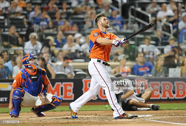 Washington Nationals Bryce Harper competes in the home run derby at the AllStar game on July 15 2013 in New York NY