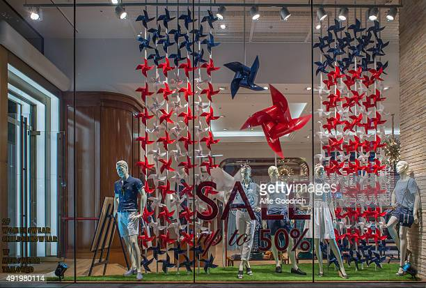 TOMMY HILFIGER Tokyo Windows Display 2015 as Part of the World Fashion Window Displays on July 15th 2015 in Tokyo Japan