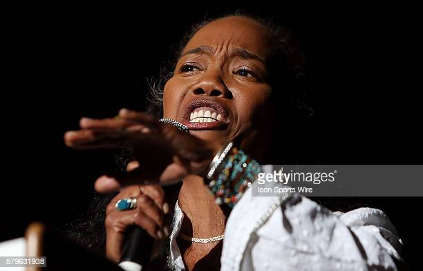 Actress Sonja Sohn performs Performers and community activists as well as actors from the critically acclaimed HBO series