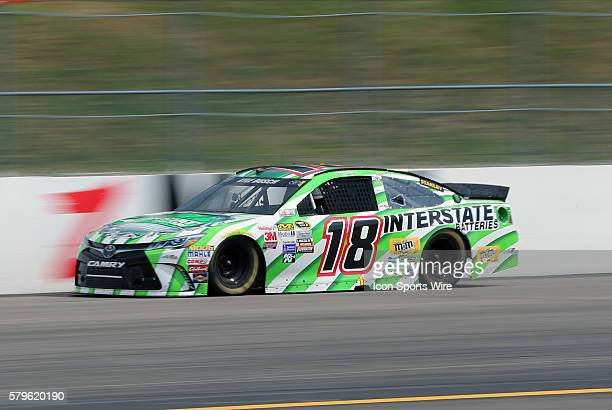 Kyle Busch Sprint Cup driver of the Interstate Batteries Toyota during the 5hour ENERGY 301 at New Hampshire Motor Speedway in Loudon New Hampshire
