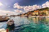 July 19, 2016: The village of Maslinica in the island of Brac, Croatia