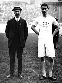 Wyndham Halswelle of Great Britain winner of the 400 Metres event at the 1908 London Olympics He reran the final on his own after John Carpenter of...