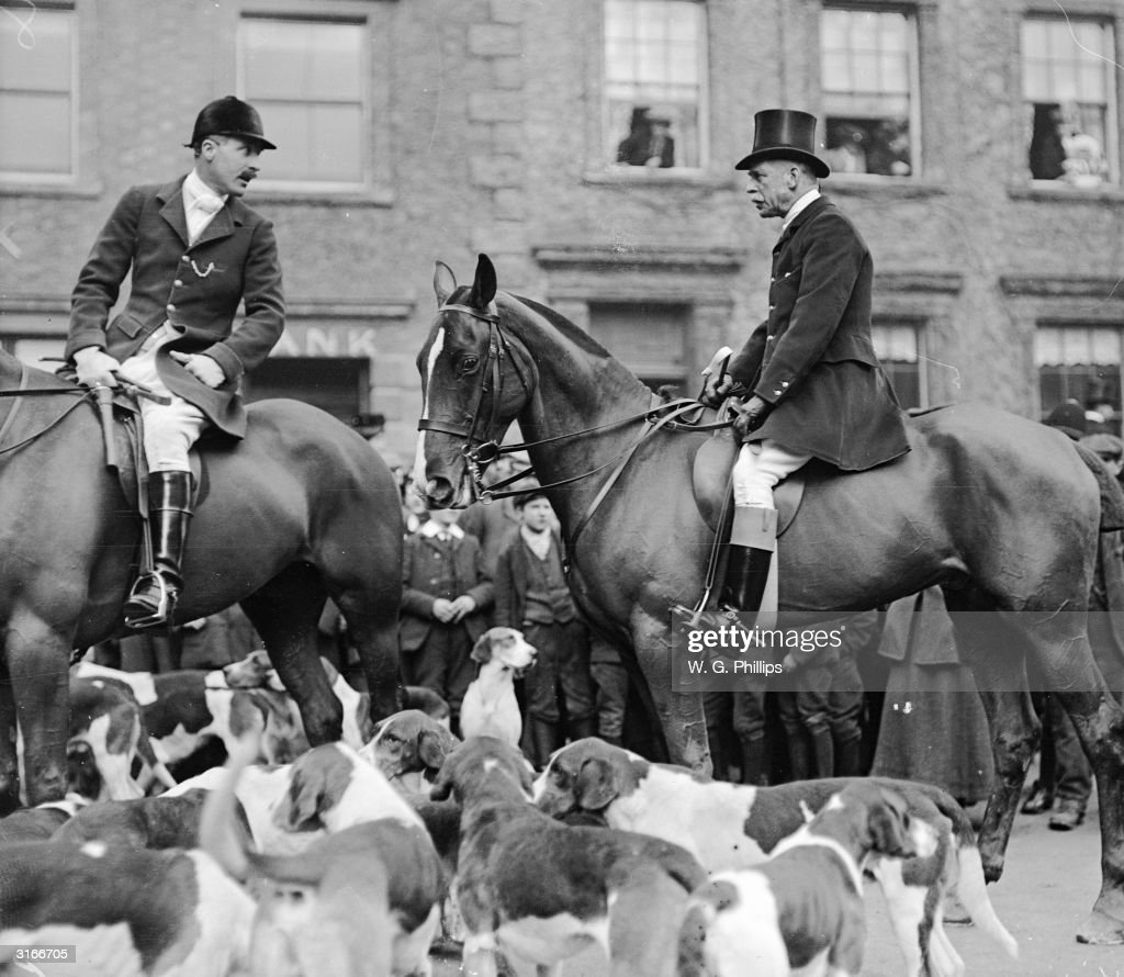 Hounds and riders gather for this high society fox hunt.