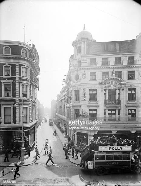 Looking down Craven Street from the corner which joins The Strand