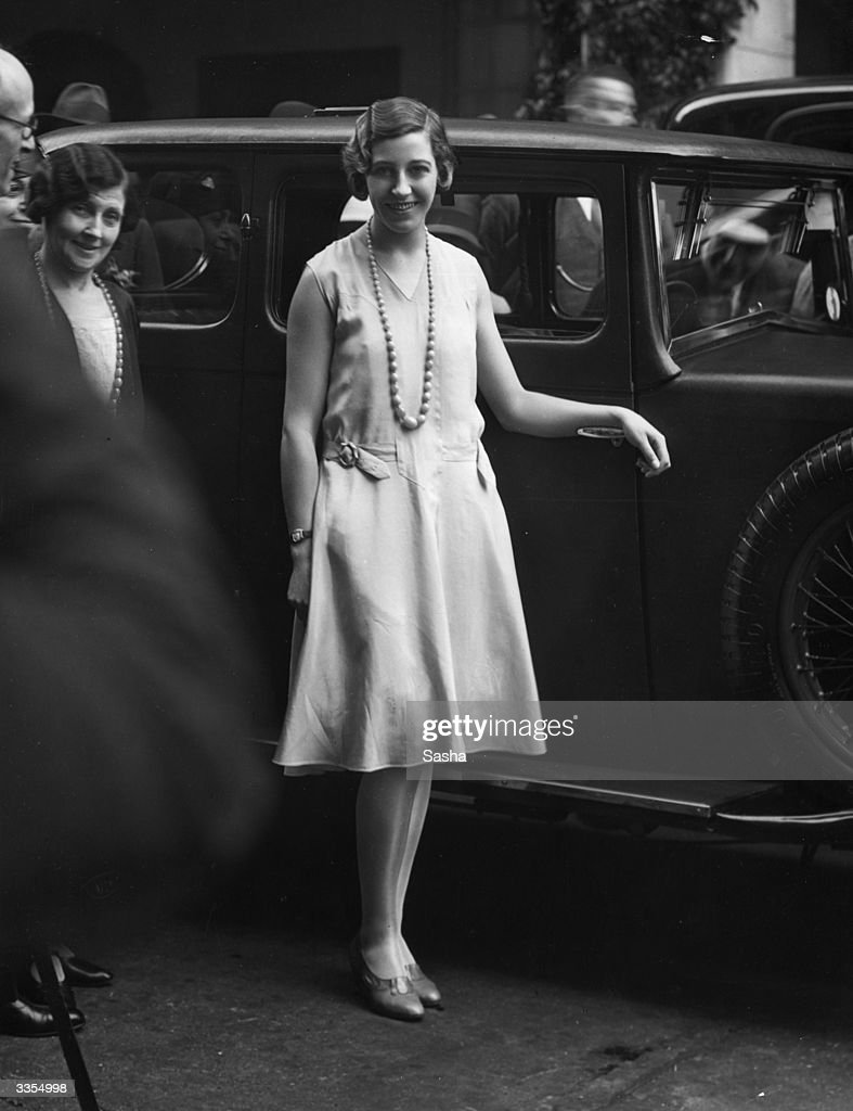 British aviation pioneer Amy Johnson (1903 - 1941) arriving at a function in London.